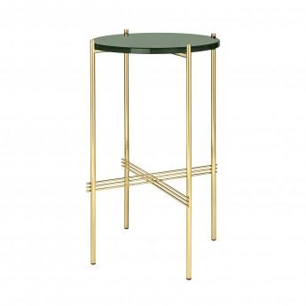 TS round Console - green glass/brass