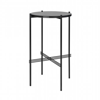 TS round Console - black glass/black