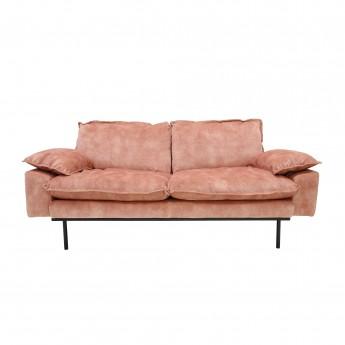 RETRO 2 seater velvet sofa old pink