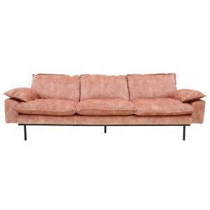 RETRO 4 seater sofa - Old pink velvet