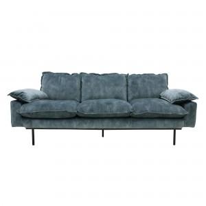 RETRO 3 seater sofa - Petrol velvet