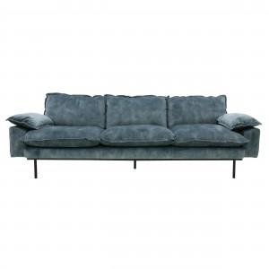 RETRO 4 seater sofa - Petrol velvet