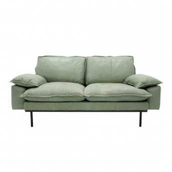 RETRO 2 seater leather sofa menthe