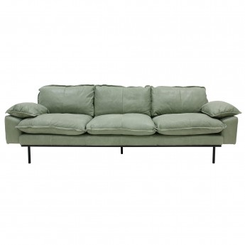 RETRO 4 seater leather sofa menthe