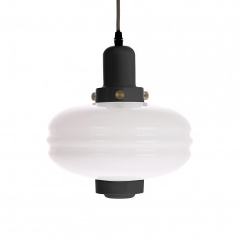 GLASS pendant lamp M black