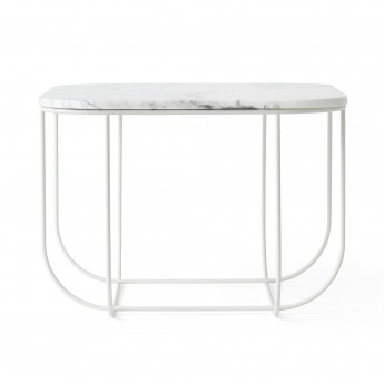 CAGE table - White marble