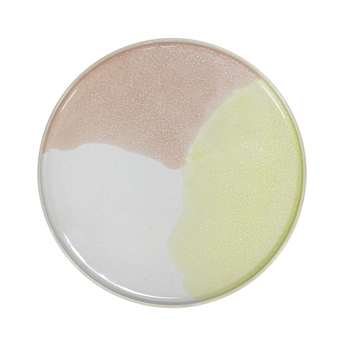 GALLERY dinner plate green/lilac