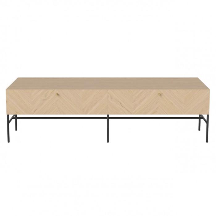 LUXE hifi white oiled oak sideboard
