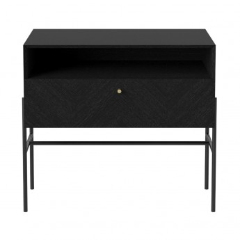 LUXE hifi black stained oak sideboard