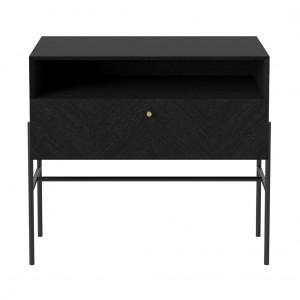Buffet LUXE chêne teinté noir - 1 tiroir