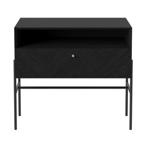 LUXE black stained oak sideboard 1 drawer