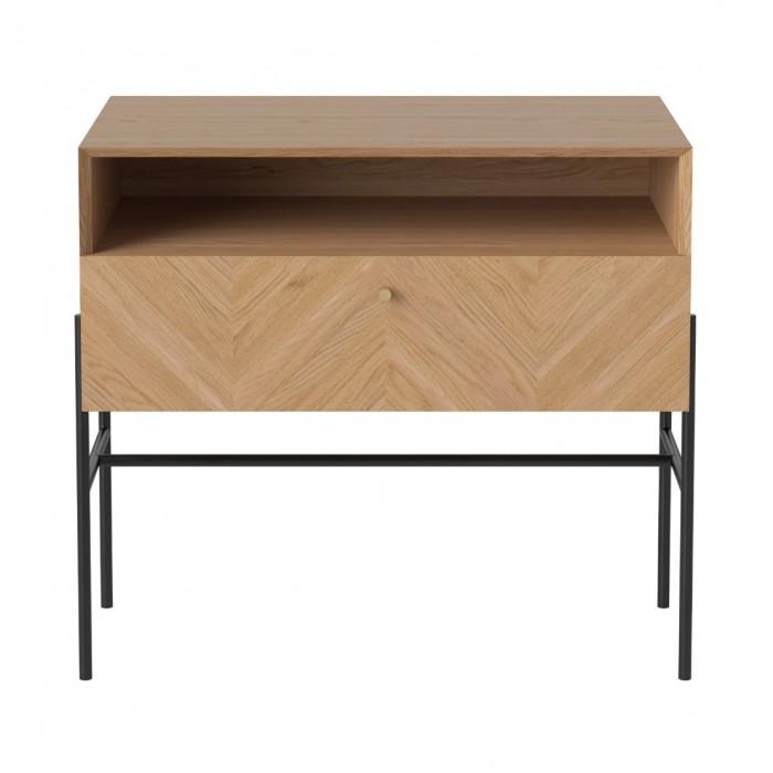 LUXE hifi black stained oak sideboard