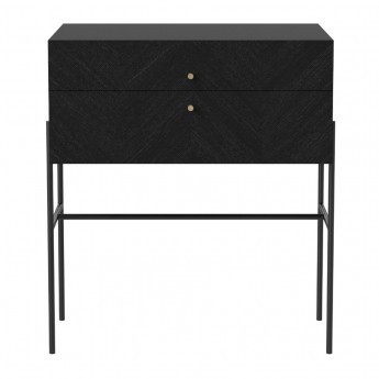 LUXE black stained oak sideboard 2 drawers