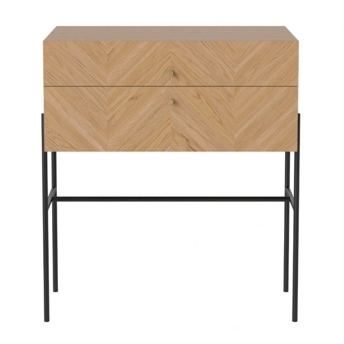 LUXE oiled oak sideboard 2 drawers