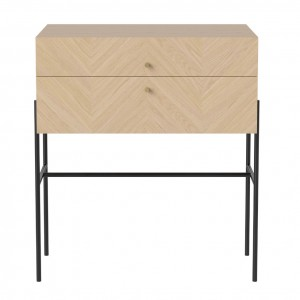 LUXE white oiled oak sideboard 2 drawers