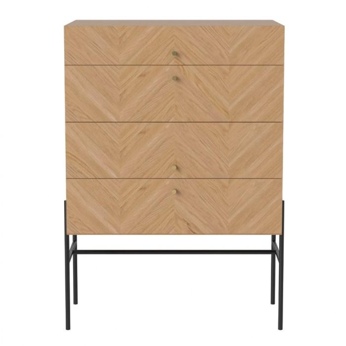 LUXE oiled oak sideboard 4 drawers