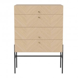 LUXE white oiled oak sideboard 4 drawers