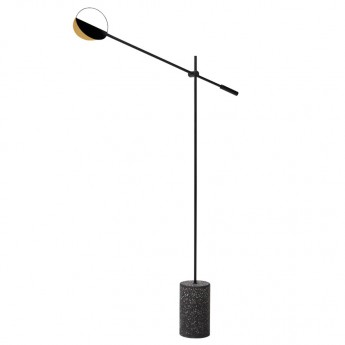 LEAVES black floor lamp