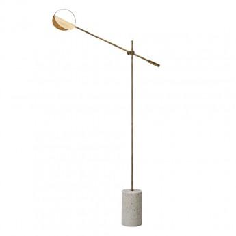 LEAVES brass floor lamp