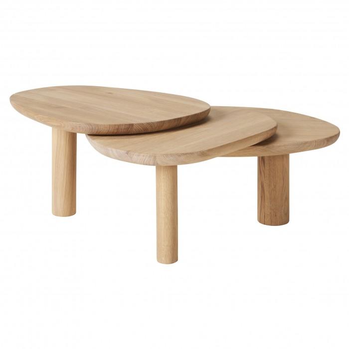 Table basse LATCH chêne huilé