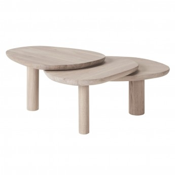 LATCH white oiled oak coffee table