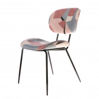 Chaise tissu imprimé