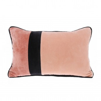 VELVET cushion - Black / Pink