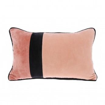 VELVET cushion - Black / Pink