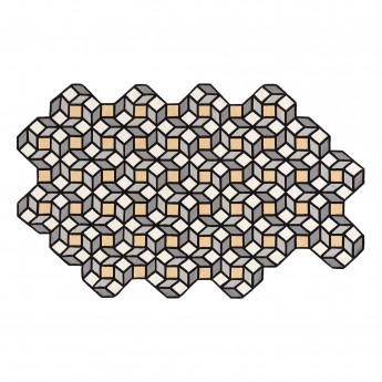 PARQUET Rhomb Carpet