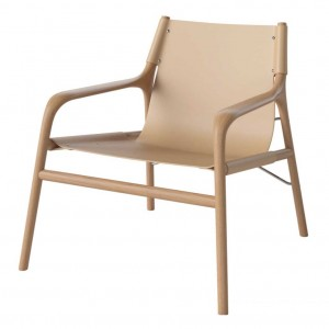 SOUL armchair oiled oak/nature leather