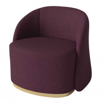 CARA armchair with swivel