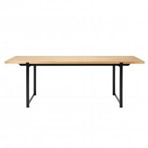 FRAME Dining table oiled oak/black frame
