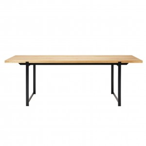 Table FRAME chêne huilé/pieds noirs