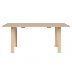 HILL Dining table white oiled oak