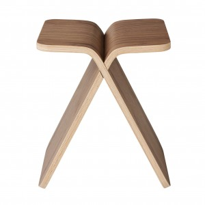 Tabouret X-STOOL noyer