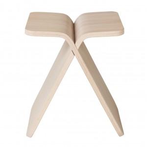 Tabouret X-STOOL chêne blanchi