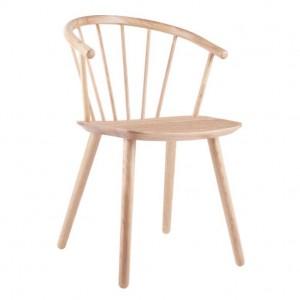 SLEEK Chair - Low/white oiled oak
