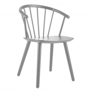 SLEEK Chair - Low/grey lacquered beech