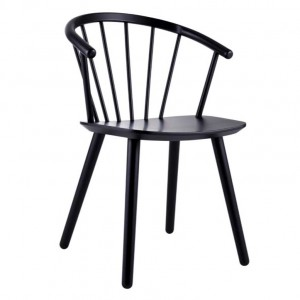 SLEEK Chair - Low/black lacquered beech
