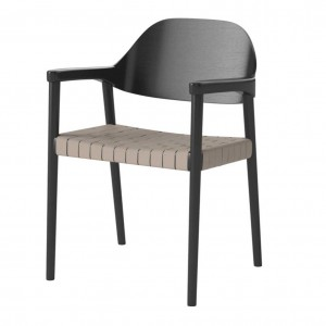 MEBLA black/natural Chair