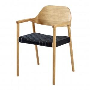 MEBLA oiled oak/black Chair
