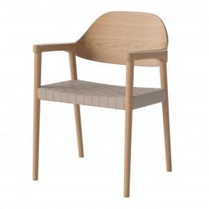 MEBLA oiled oak/natural Chair