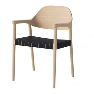 MEBLA white oiled oak/black Chair