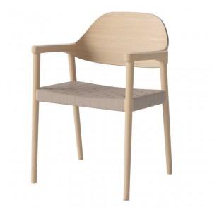 MEBLA white oiled oak/natural Chair