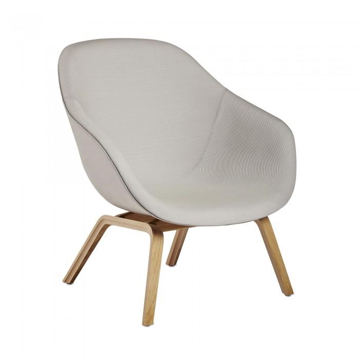 Aal 83 Low Armchair In Oak And Kvadrat Fabric Hay