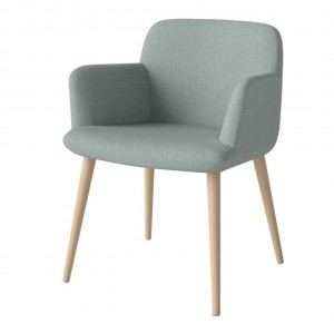 C3 white oiled oak chair