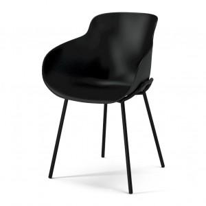 HUG black/steel legs chair