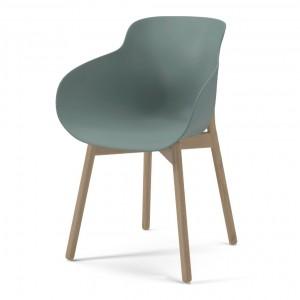 HUG green/wood legs chair