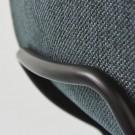 Chaise HUG noir/pieds métal noir