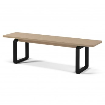 DT18 Bench - Smoked oak, black stained oak